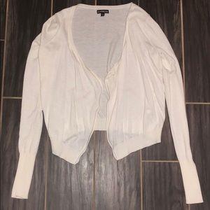EXPRESS long sleeve cream cardigan